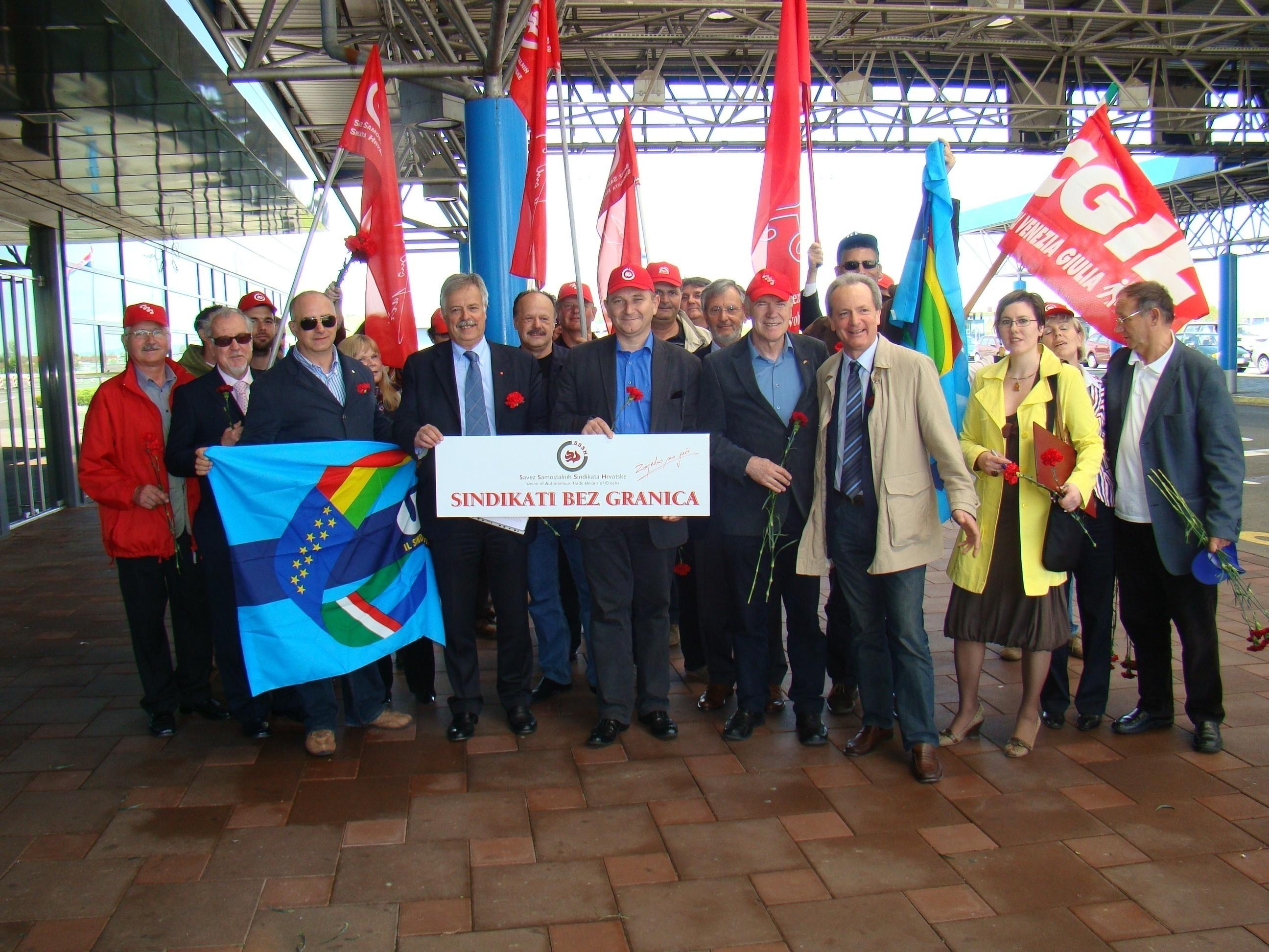 SINDACATI SENZA FRONTIERE – Sesto incontro internazionale – Valico di Bregana 26 aprile 2012