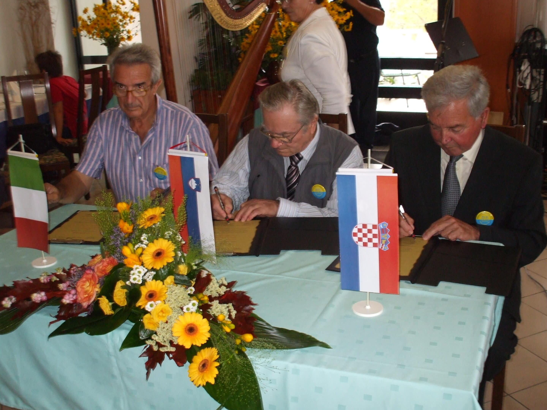 Protocollo di collaborazione e fratellanza tra pensionati italiani, sloveni e croati