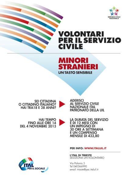 locandina servizio civile Patronato ITAL Trieste 18.20.2013