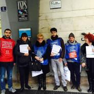Presidio a Trieste contro i tagli del Governo a CAF e Patronati